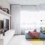 thiết kế căn hộ 20m2 đầy đủ tiện nghi