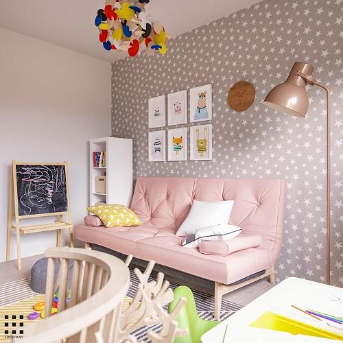 thiết kế căn hộ 20m2 đầy đủ tiện nghi phòng ngủ con 2