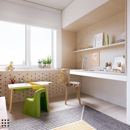thiết kế căn hộ 20m2 đầy đủ tiện nghi phòng ngủ con 6