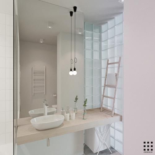 thiết kế căn hộ 20m2 đầy đủ tiện nghi phòng vệ sinh 1