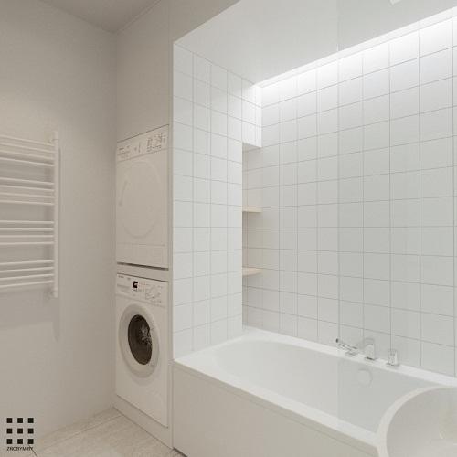 thiết kế căn hộ 20m2 đầy đủ tiện nghi phòng vệ sinh 4
