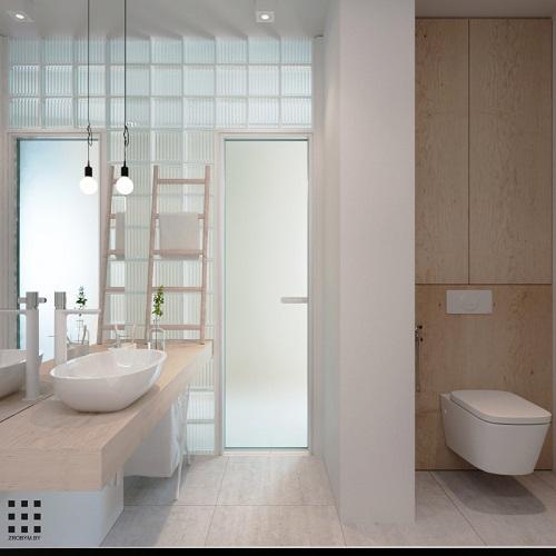 thiết kế căn hộ 20m2 đầy đủ tiện nghi phòng vệ sinh
