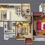 24 mẫu thiết kế căn hộ 2 phòng ngủ cho vợ chồng trẻ 14