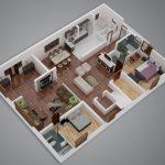 24 mẫu thiết kế căn hộ 2 phòng ngủ cho vợ chồng trẻ 5