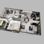 24 mẫu thiết kế căn hộ 2 phòng ngủ cho vợ chồng trẻ 8