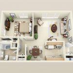 50 mẫu thiết kế căn hộ 1 phòng ngủ đẹp hiện đại 11