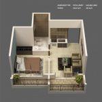 50 mẫu thiết kế căn hộ 1 phòng ngủ đẹp hiện đại 12