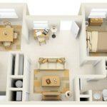 50 mẫu thiết kế căn hộ 1 phòng ngủ đẹp hiện đại 13
