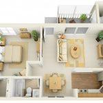 50 mẫu thiết kế căn hộ 1 phòng ngủ đẹp hiện đại 14