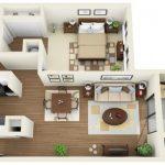 50 mẫu thiết kế căn hộ 1 phòng ngủ đẹp hiện đại 15
