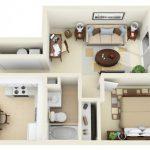 50 mẫu thiết kế căn hộ 1 phòng ngủ đẹp hiện đại 16