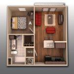 50 mẫu thiết kế căn hộ 1 phòng ngủ đẹp hiện đại 17