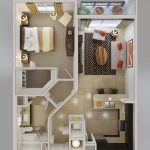 50 mẫu thiết kế căn hộ 1 phòng ngủ đẹp hiện đại 19