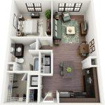 50 mẫu thiết kế căn hộ 1 phòng ngủ đẹp hiện đại 21