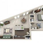 50 mẫu thiết kế căn hộ 1 phòng ngủ đẹp hiện đại 25