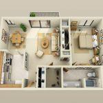 50 mẫu thiết kế căn hộ 1 phòng ngủ đẹp hiện đại 27