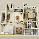 50 mẫu thiết kế căn hộ 1 phòng ngủ đẹp hiện đại 28