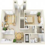 50 mẫu thiết kế căn hộ 1 phòng ngủ đẹp hiện đại 30
