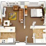 50 mẫu thiết kế căn hộ 1 phòng ngủ đẹp hiện đại 32