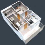 50 mẫu thiết kế căn hộ 1 phòng ngủ đẹp hiện đại 33