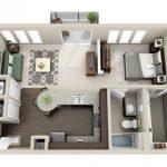 50 mẫu thiết kế căn hộ 1 phòng ngủ đẹp hiện đại 41