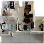 50 mẫu thiết kế căn hộ 1 phòng ngủ đẹp hiện đại 47
