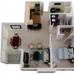 50 mẫu thiết kế căn hộ 1 phòng ngủ đẹp hiện đại 48