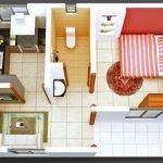 50 mẫu thiết kế căn hộ 1 phòng ngủ đẹp hiện đại 49