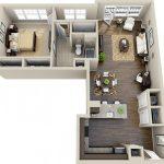 50 mẫu thiết kế căn hộ 1 phòng ngủ đẹp hiện đại 50