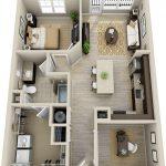 50 mẫu thiết kế căn hộ 1 phòng ngủ đẹp hiện đại 51