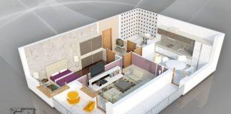50 mẫu thiết kế căn hộ 1 phòng ngủ đẹp hiện đại 52