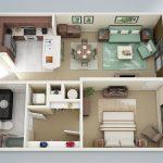 50 mẫu thiết kế căn hộ 1 phòng ngủ đẹp hiện đại 6