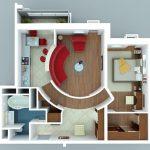 50 mẫu thiết kế căn hộ 1 phòng ngủ đẹp hiện đại 8