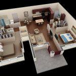 Mẫu thiết kế căn hộ 2 phòng ngủ 12