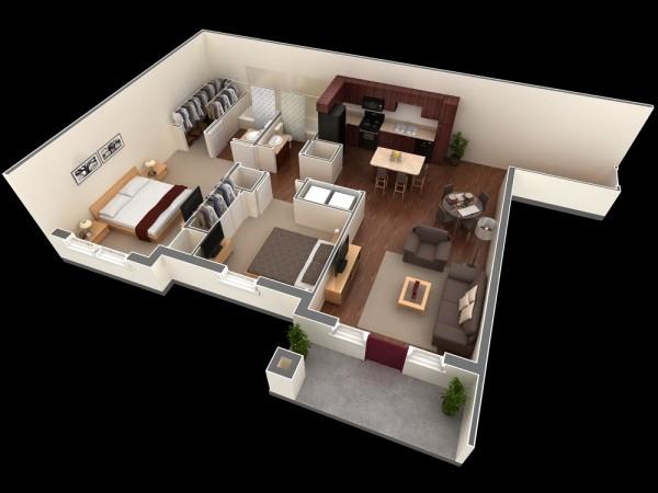 Mẫu thiết kế căn hộ 2 phòng ngủ 13