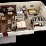 Mẫu thiết kế căn hộ 2 phòng ngủ 14