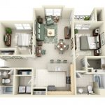 Mẫu thiết kế căn hộ 2 phòng ngủ 23