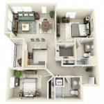 Mẫu thiết kế căn hộ 2 phòng ngủ 24