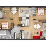 Mẫu thiết kế căn hộ 2 phòng ngủ 28