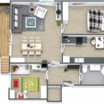 Mẫu thiết kế căn hộ 2 phòng ngủ 29
