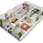 Mẫu thiết kế căn hộ 2 phòng ngủ 3