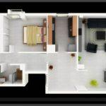 Mẫu thiết kế căn hộ 2 phòng ngủ 30