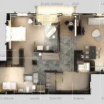 Mẫu thiết kế căn hộ 2 phòng ngủ 31