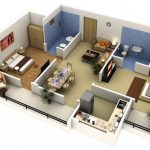 Mẫu thiết kế căn hộ 2 phòng ngủ 35