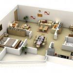 Mẫu thiết kế căn hộ 2 phòng ngủ 37