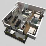 Mẫu thiết kế căn hộ 2 phòng ngủ 6