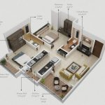 Mẫu thiết kế căn hộ 2 phòng ngủ 7