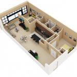 Mẫu thiết kế căn hộ 2 phòng ngủ 9