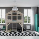 thiết kế phòng ngủ trẻ em sáng tạo hiện đại 25