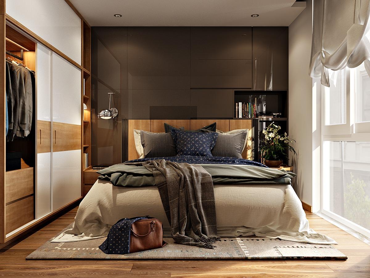 Trang trí phòng ngủ nhỏ trẻ trung hiện đại 1